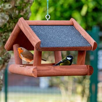 """VOSS.garden """"Tilda"""" mooi vogelhuis van hout, om op te hangen ( zonder staander)"""