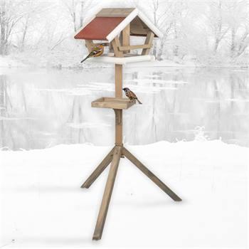 """VOSS.garden vogelvoederhuis """"Birdy"""", voederstation met standaard voor tuinvogels"""