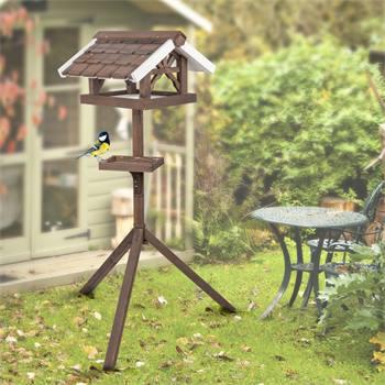 """VOSS.garden vogelvoederhuis """"Flori"""", voederstation met standaard voor tuinvogels"""