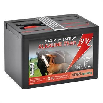 VOSS.farming 9V/ 75Ah alkaline batterij, kleine batterij voor in een schrikdraadapparaat