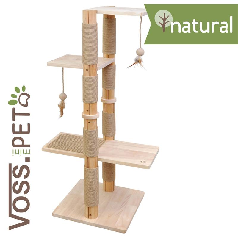voss pet krabpaal garfield premium massief houten katten krabpaal. Black Bedroom Furniture Sets. Home Design Ideas