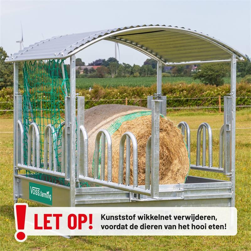 503902-16-voss-farming-vierkante-ruif-voederruif-ronde-balenruif-2-x-2-m-met-dak-en-palissaden-voede