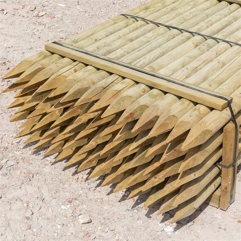 69515-3-70x-voss-farming-200-8cm-ronde-houten-palen-weidepaal-rond-gefreesd-klasse-4-omheiningspaal-