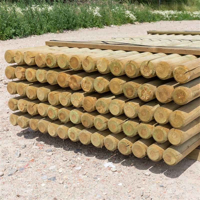 69515-4-70x-voss-farming-200-8cm-ronde-houten-palen-weidepaal-rond-gefreesd-klasse-4-omheiningspaal-