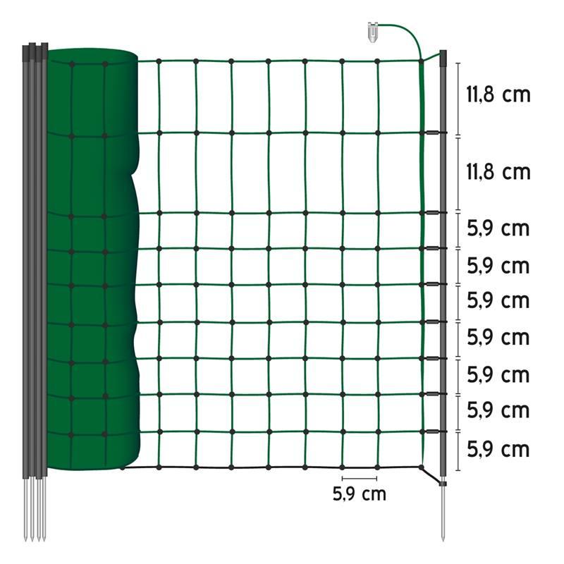 AS-27229-VOSS.farming-schrikdraadnet-afrasteringsnet-kleindiernet-donker-groen-50-meter-65-centimer-
