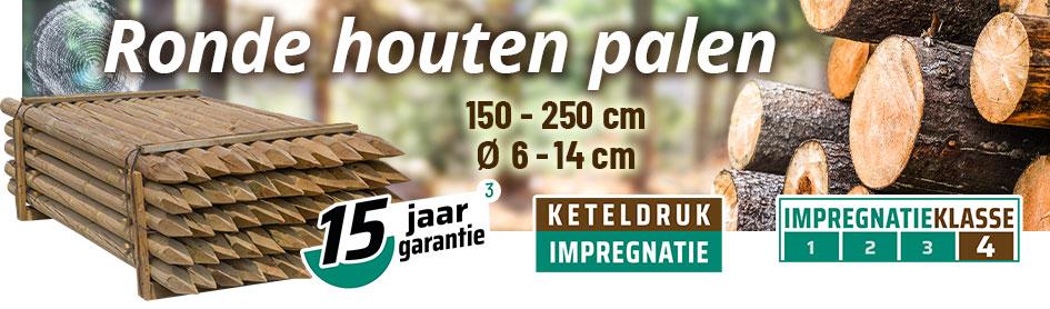 Ronde Houten palen